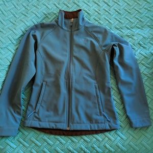 The North Face teal soft shell Small
